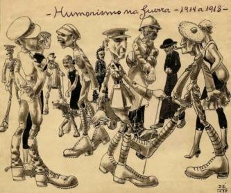 """Humorismo na Guerra - 1914 a 1918"""" de José Brusco Junior"""