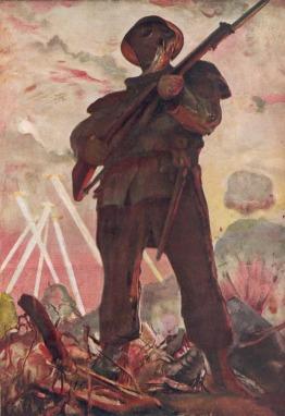 Pintura de Adriano de Sousa Lopes em Homenagem ao Soldado Desconhecido